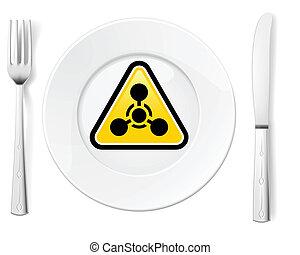 veszélyes, élelmiszer