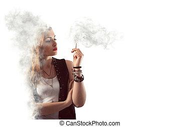 veszélyes, dohányzó
