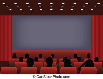 vetítés, mozi