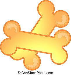 Vet dog bones - Illustration of a dog bones icon, that can ...