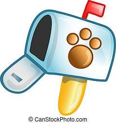 Vet mailbox icon or symbol - Illustration of a vet mailbox ...