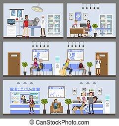 Vetclinic building interior. - Vetclinic building interior...
