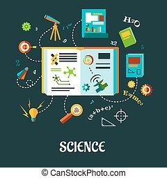vetenskap, begrepp, skapande, lägenhet