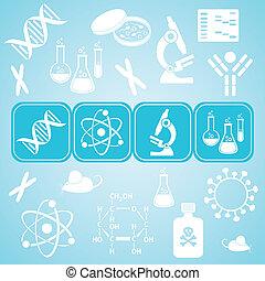 vetenskap, biologi, molekylar, kort