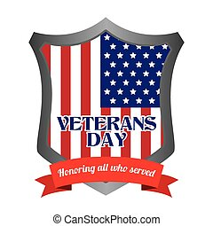 Veteran Day - abstract veteran day object on a white...
