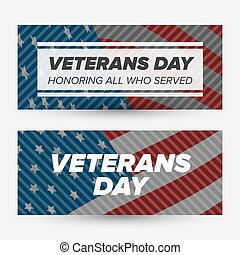 Veteran day banners