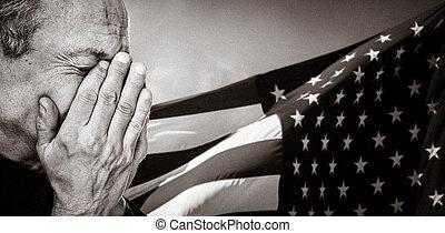 Veteran. Patriotic concept.