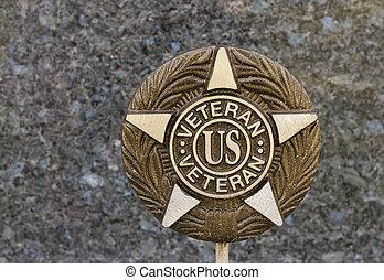 veteran plaque - plaque commemorating service in the United...