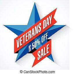 veterani, bandiera, giorno, vendita