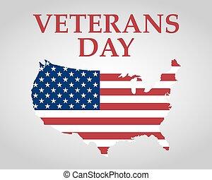 veteranos día, en, los estados unidos de américa