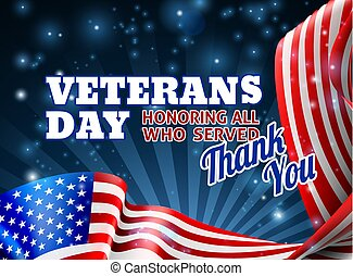 Veterans Day Background American Flag Design