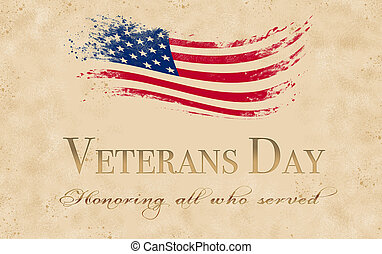 Veterans Day background with grunge effect