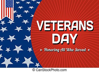 Veterans day celebration card, vector illustration