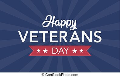 Veterans Day celebration illustration. HD background banner. Remember and honor.