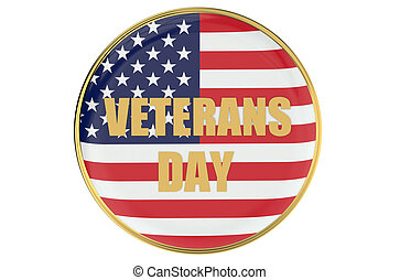 veterans day cocept with badge