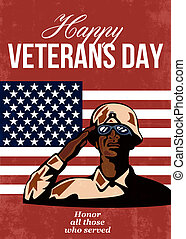 Veterans Day Greeting Card American - Greeting card poster...