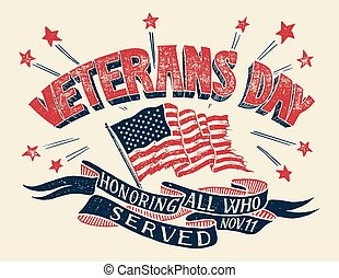 Veterans Day hand-lettering poster
