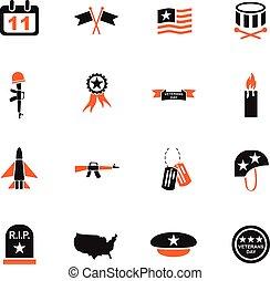 veterans day icon set