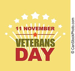 Veterans Day November 11. Salute to American heroes. Vector illustration of patriotic national holiday United States