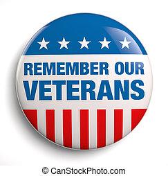 Veterans Day remember badge icon.