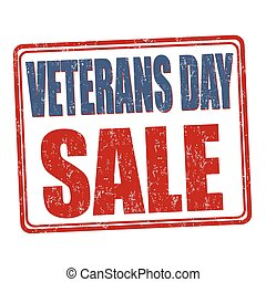 Veterans Day Sale stamp - Grunge rubber stamp with the text...