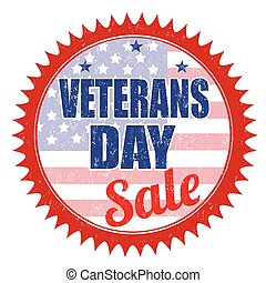 Veterans Day Sale stamp