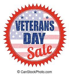 Veterans Day Sale stamp