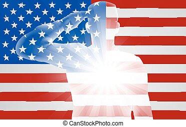 Veterans Day Soldier Saluting