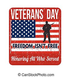 Veterans Day stamp - Grunge rubber stamp with the text ...
