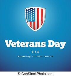 Veterans Day USA banner vector
