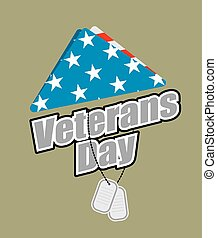 Veterans Day. USA flag symbol of mourning and grief for fallen soldiers.