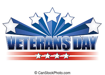 Veterans Day - Veterans day logo illustration isolated over...