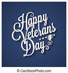 Veterans day vintage lettering background
