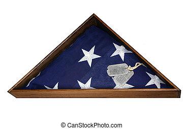 Veterans Flag - a flag given to a veterans widow