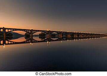 Veterans Memorial Bridge, spans the Susquehanna River...