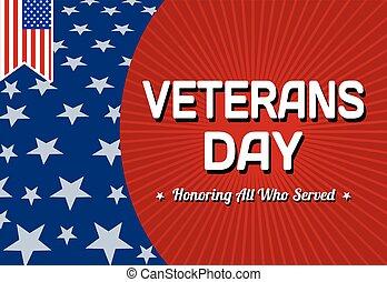 veteransdag, kort, firande