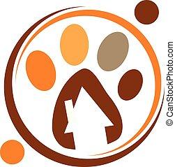 veterinário, clínica, logotipo, desenho, modelo, vetorial