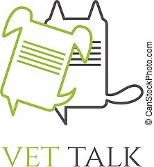 veterinário, conversa, vetorial, desenho, modelo