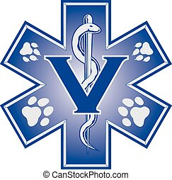 Veterinarian Emergency Medical Symb - Illustration of a...
