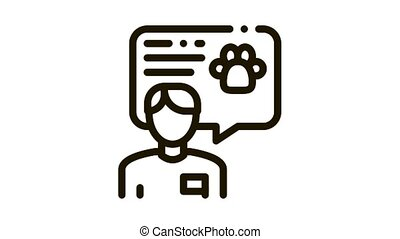 Veterinarian Icon Animation