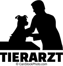 Veterinarian - pet doctor with german job title