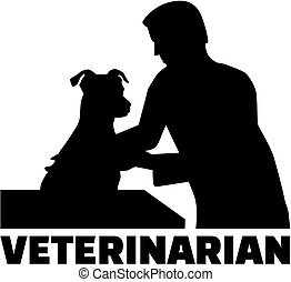 Veterinarian - pet doctor with job title