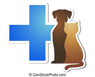 veterinario, cruz, mascotas