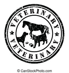 veterinario, estampilla