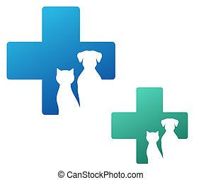 veterinario, icono