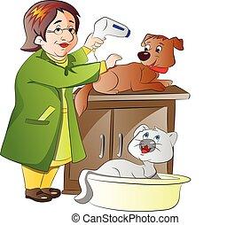 veterinario, ilustración