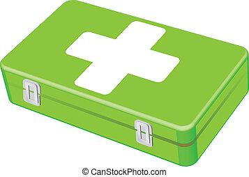 veterinario, kit de primeros auxilios