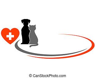 veterinario, plano de fondo, animal