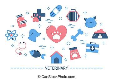 Veterinary concept. Idea of domestic animal care. Health of...