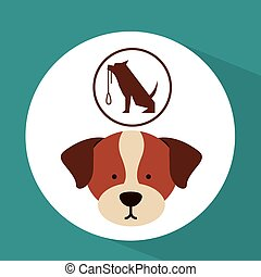 veterinary dog care training icon